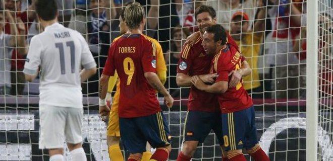 Spagna vs Francia 2-0 second gol
