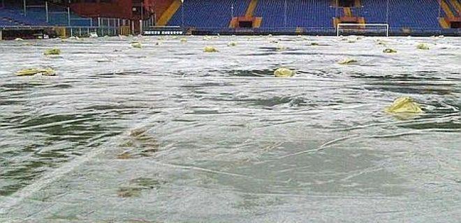 Stadio Marassi allagato