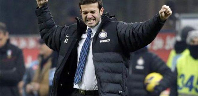 Stramaccioni esultanza Inter-Napoli