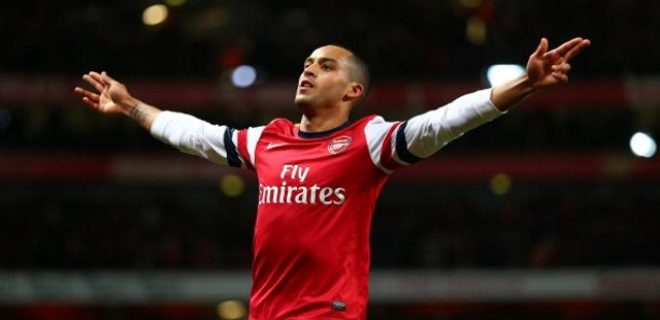Theo Walcott Arsenal-Newcastle