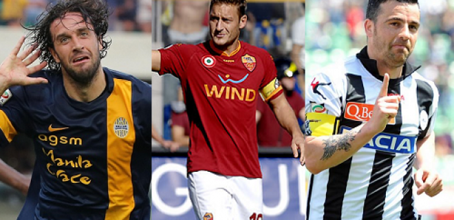 Toni Totti Di Natale vecchi Italia Serie A