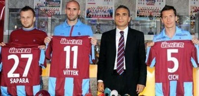 Trabzonspor - Vittek, Cech, Sapara bis