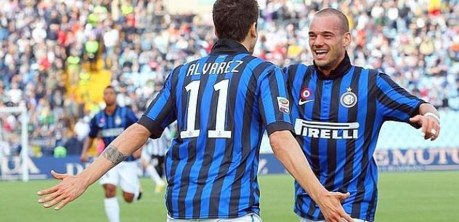 Udinese-Inter Alvarez Sneijder