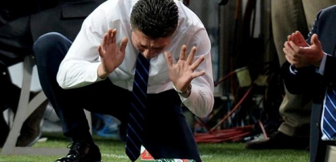 Walter Mazzarri disperazione Inter-Bologna