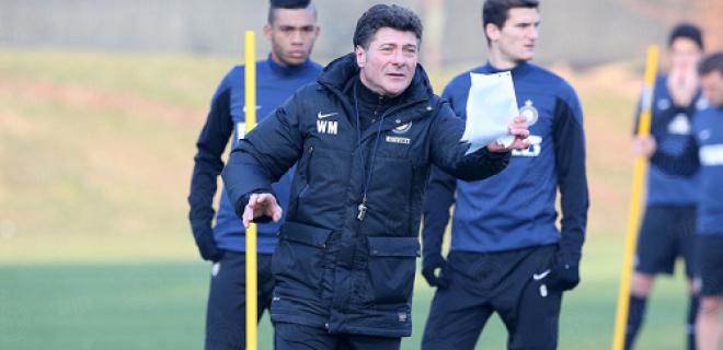 Walter Mazzarri rifinitura Inter-Chievo