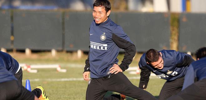 Yuto Nagatomo allenamento