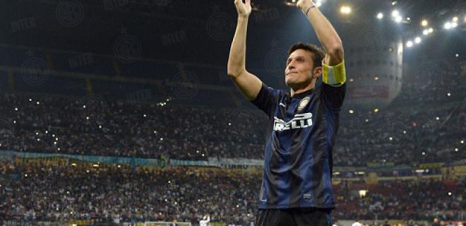 Zanetti Inter-Lazio applauso