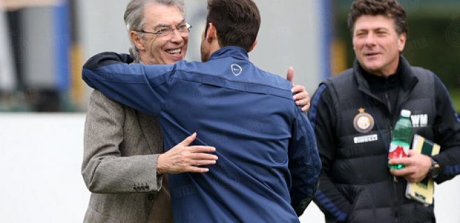 Zanetti abbraccio Moratti
