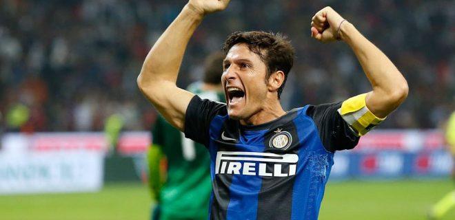 Zanetti esultanza derby Milan-Inter