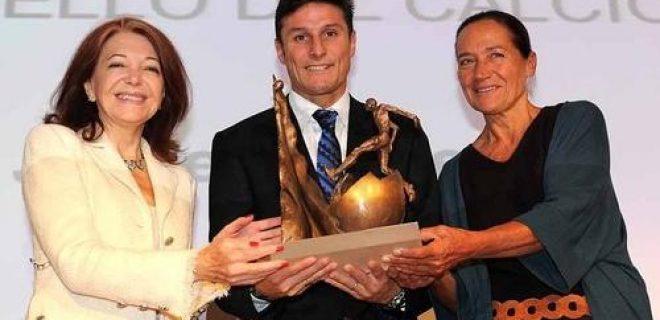 Zanetti premio Il bello del calcio