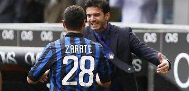 Zarate Stramaccioni Inter-Genoa