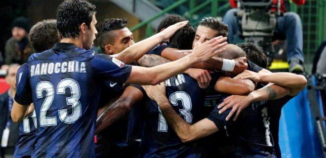 esultanza Inter-Hellas Verona