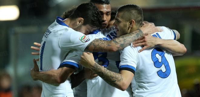 esultanza Livorno-Inter