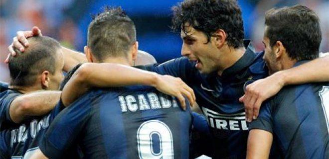 esultanza squadra Inter vs Genoa
