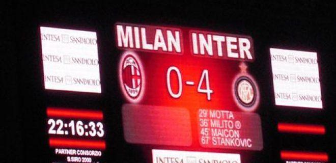 milan inter 0-4