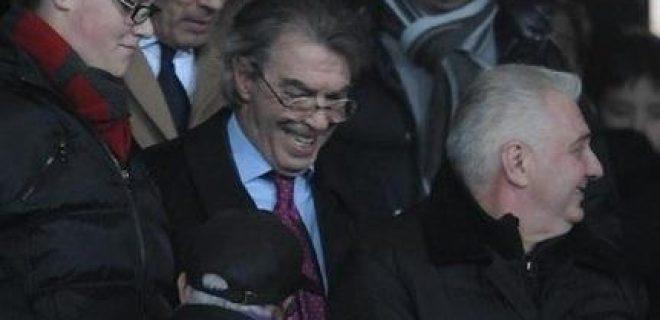 Moratti in tribuna a Verona